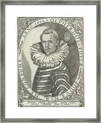 Portrait Of Olpherdus Fuyck Olfert Fuchs Framed Print by Floris Balthasarsz. Van Berckenrode