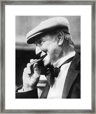 Portrait Of Opie Read. Framed Print by Underwood Archives