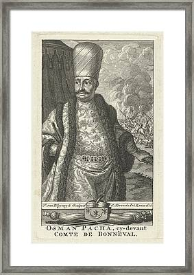 Portrait Of Osman Pascha As General Of Turkish Troops Framed Print