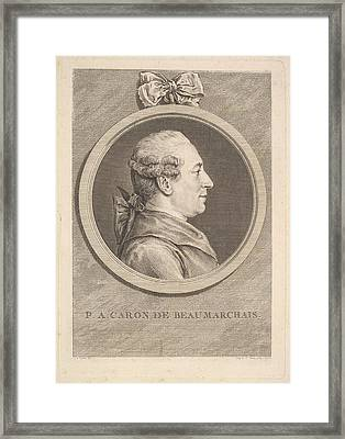 Portrait Of P.a. Caron De Beaumarchais Framed Print
