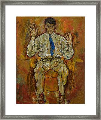 Portrait Of Paris Von Gutersloh Framed Print by Egon Schiele