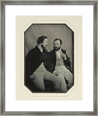 Portrait Of Paul And Hippolyte Flandrin F. Chabrol Framed Print
