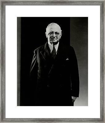Portrait Of Paul Cravath Framed Print by Edward Steichen