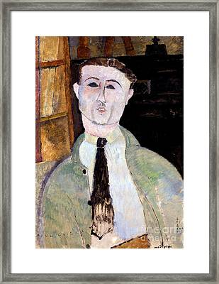 Portrait Of Paul Guillaume Framed Print by Amedeo Modigliani