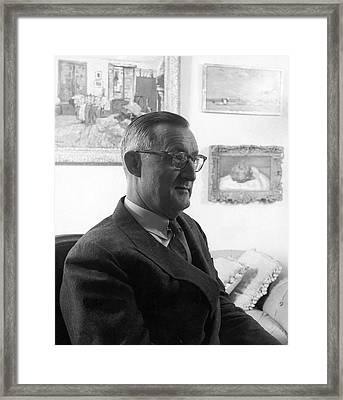 Portrait Of Paul Mellon Framed Print by Horst P. Horst