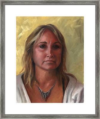 Portrait Of Paula Framed Print by Terri  Meyer