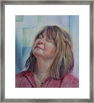 Portrait Of Peg Framed Print