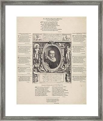 Portrait Of Peter Hogerbeets, Print Maker Jan Saenredam Framed Print