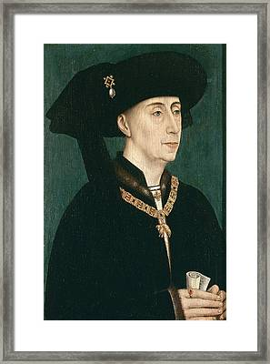 Portrait Of Philip The Good  Framed Print by Rogier van der Weyden