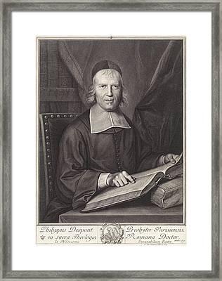 Portrait Of Philippe Despont, Pieter Van Schuppen Framed Print by Pieter Van Schuppen