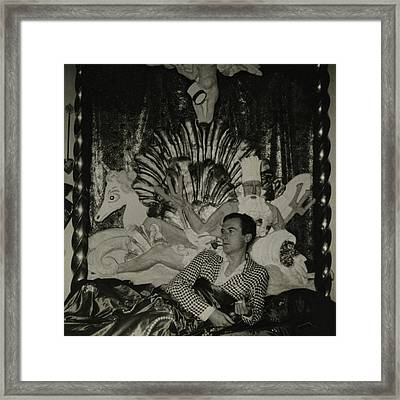 Portrait Of Photographer Cecil Beaton Framed Print
