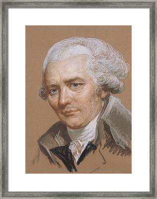 Portrait Of Pierre Choderlos De Laclos 1741-1803, Officer And French Writer Pastel And Wc On Paper Framed Print by Joseph Ducreux