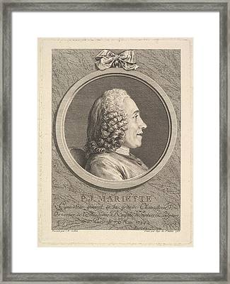 Portrait Of Pierre-jean Mariette Framed Print
