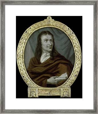 Portrait Of Pieter Verhoek, Poet And Marble Painter Framed Print