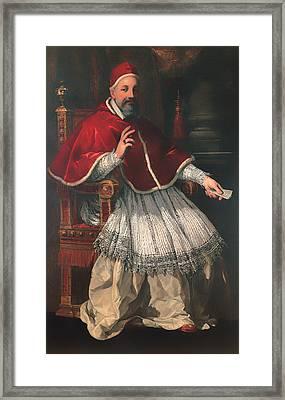 Portrait Of Pope Urban Viii Framed Print