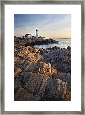 Portrait Of Portland Head Framed Print by Eric Gendron