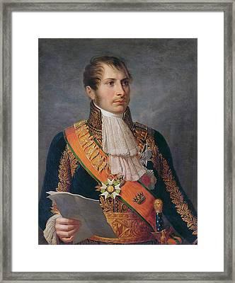 Portrait Of Prince Eugene De Beauharnais 1781-1824 Viceroy Of Italy And Duke Of Leuchtenberg Framed Print