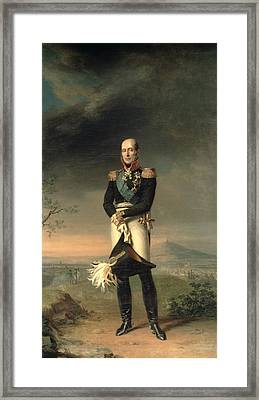 Portrait Of Prince Mikhail Barclay De Tolly 1761-1818, 1829 Oil On Canvas Framed Print