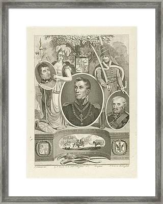 Portrait Of Prince William Frederick George Lodewijk Framed Print by Pieter Van Der Meulen And Jan F. Numan