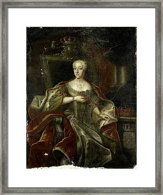 Portrait Of Princess Charlotte Amalie, Daughter Framed Print by Litz Collection