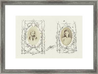 Portrait Of Princess Mary Of Edinburgh As A Child Framed Print by Artokoloro