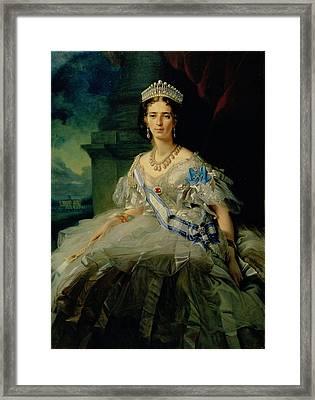 Portrait Of Princess Tatiana Alexanrovna Yusupova, 1858 Oil On Canvas Framed Print by Franz Xaver Winterhalter
