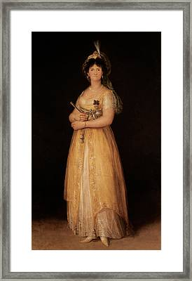 Portrait Of Queen Maria Luisa Framed Print by Goya