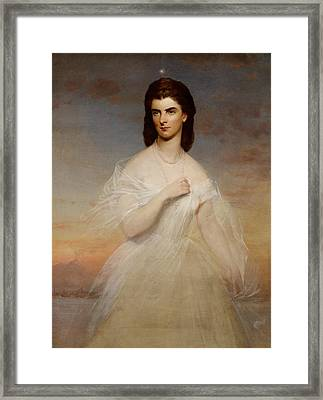 Portrait Of Queen Maria Sophia Of Naples Framed Print by Franz Xaver Winterhalter
