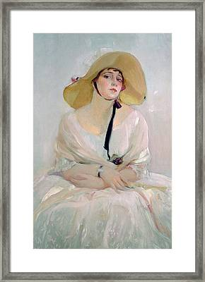 Portrait Of Raquel Meller Framed Print