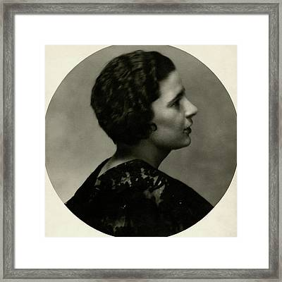 Portrait Of Rebecca West Framed Print by Maurice Beck & Helen Macgregor