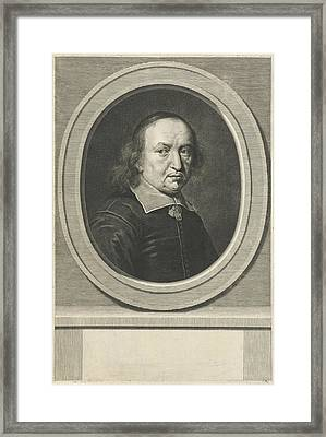Portrait Of Reinhold Curike Framed Print by Johannes Willemsz. Munnickhuysen