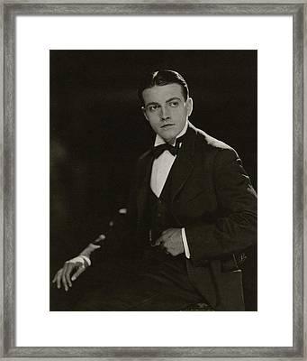 Portrait Of Richard Barthelmess Framed Print by James Abbe
