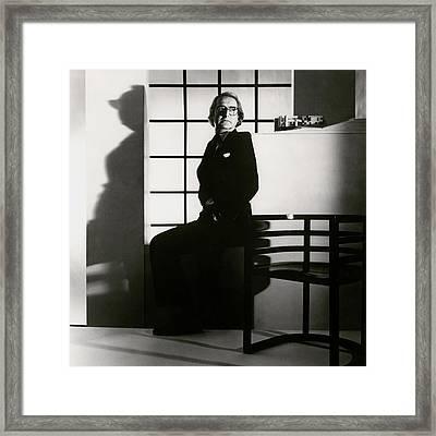 Portrait Of Richard Meier Framed Print by Horst P. Horst