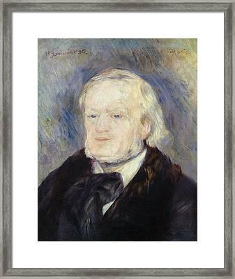 Portrait Of Richard Wagner Framed Print by Pierre Auguste Renoir