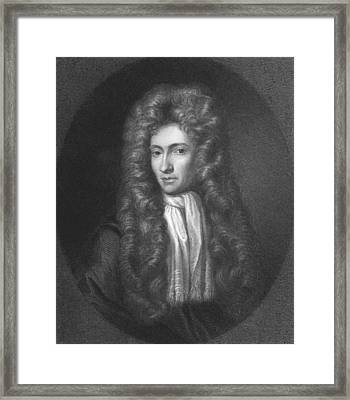 Portrait Of Robert Boyle Framed Print by R. Woodman