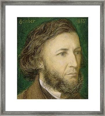 Portrait Of Robert Browning Framed Print