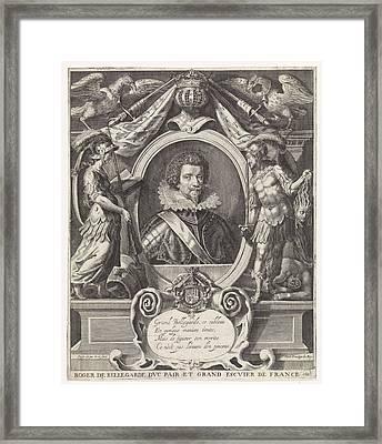 Portrait Of Roger De Saint-lary De Bellegarde Framed Print