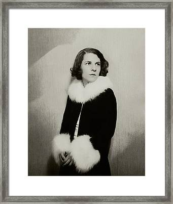 Portrait Of Ruth Gordon Framed Print by Florence Vandamm