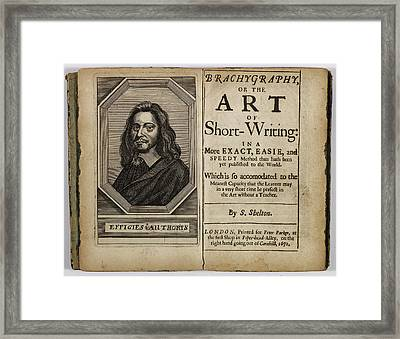 Portrait Of S. Shelton Framed Print by British Library