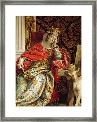 Portrait Of Saint Helena Framed Print by Veronese