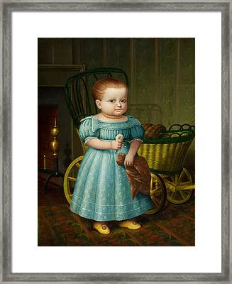 Portrait Of Sally Puffer Sanderson Framed Print