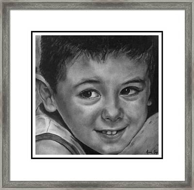 Portrait Of Samuel Framed Print by Arual Jay