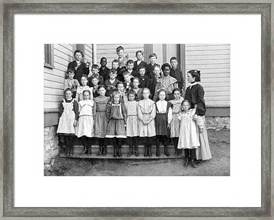 Portrait Of School Children Framed Print by Underwood Archives