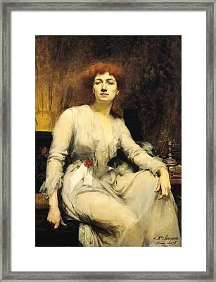 Portrait Of Severine 1855-1929 1893 Oil On Canvas Framed Print