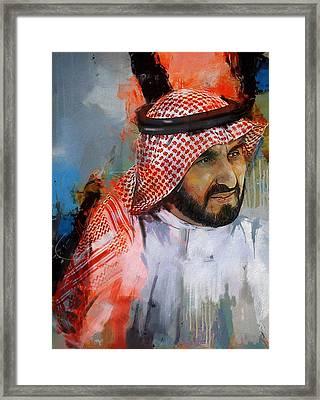 Portrait Of Sheikh Saqr Bin Mohammad Al Qasimi Framed Print by Maryam Mughal