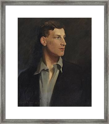 Portrait Of Siegfried Sassoon 1917 Framed Print
