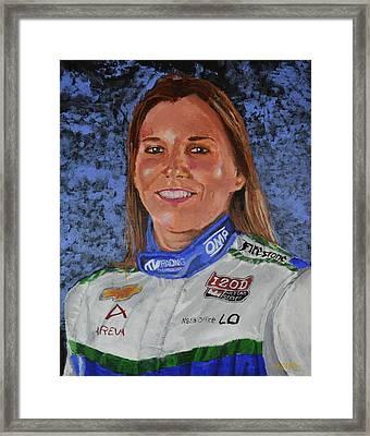 Portrait Of Simona Framed Print