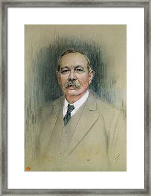 Portrait Of Sir Arthur Conan Doyle  Framed Print