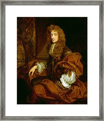 Portrait Of Sir Charles Sedley 1687 Framed Print by Sir Godfrey Kneller