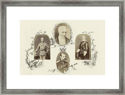 Portrait Of Sir Garnet Wolsleley In Uniform Surrounded Framed Print by Artokoloro